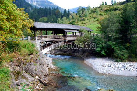 view on a mountain river and