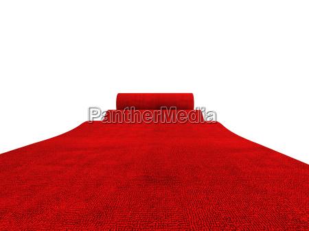 roll roten teppich