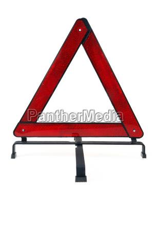 warning triangle over white background