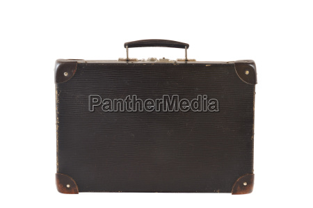old retro styled travel suitcase isolated