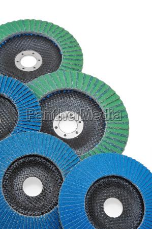 abrasive disks for grinder isolated on