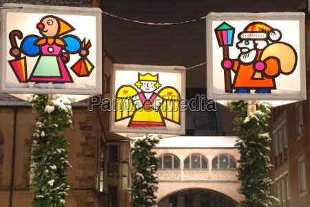 christmas street lighting in nuremberg
