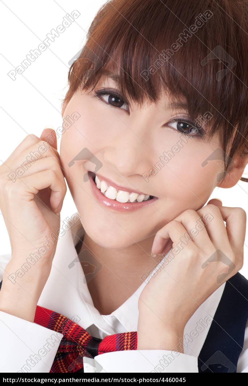cute, asian, student, mädchen - 4460045