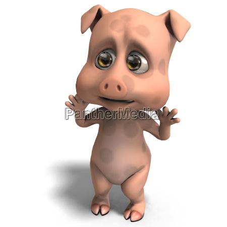 cute and funny cartoon pig