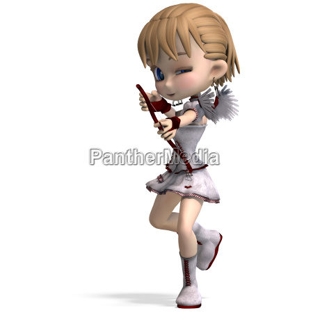 lovely toon cupid sends you a