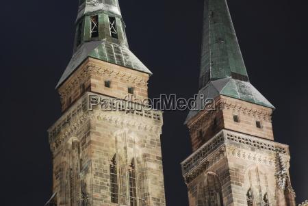 stsebald sebalduskirche towers nuremberg