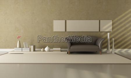 braun und beige wohnzimmer