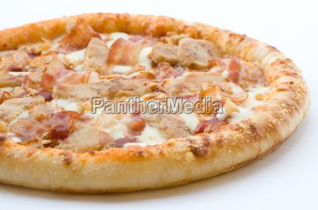 pizza kaese huhn haehnchen ranch speck