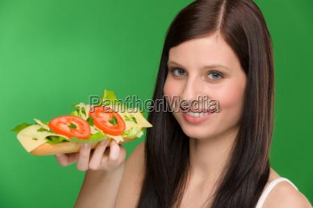 healthy lifestyle woman enjoy cheese