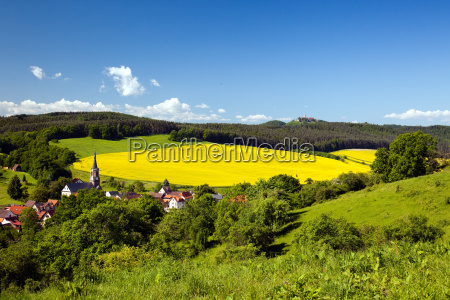summer landscape unterbodnitz the leuchtenburg