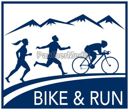 marathonlaeufer fahrrad zyklus laeuferrennen