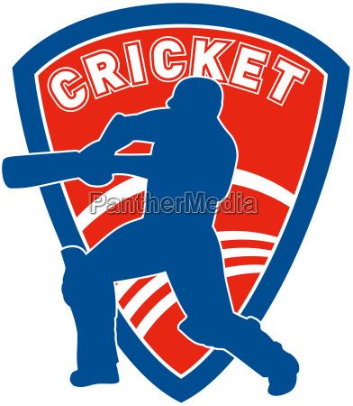 cricket schlagmannschlagen schild