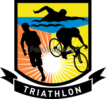 triathlon schwimmen fahrrad rennen