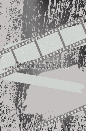 grunge background with filmstrips