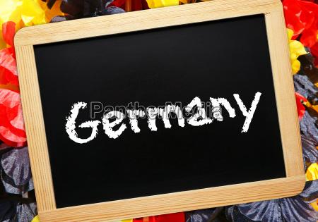 germany fussball fan konzept
