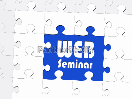 web seminar business concept