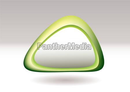 triangle pebble green