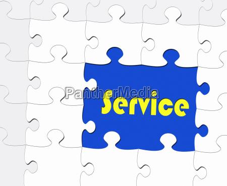 service business concept puzzle