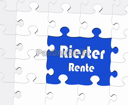 riester pension retirement concept