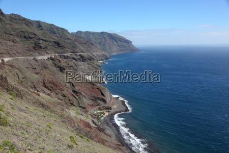 coast of tenerife canary islands spain
