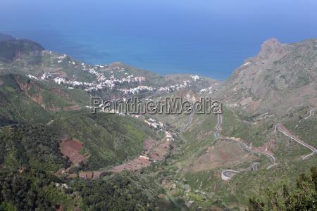 village on the coast of tenerife