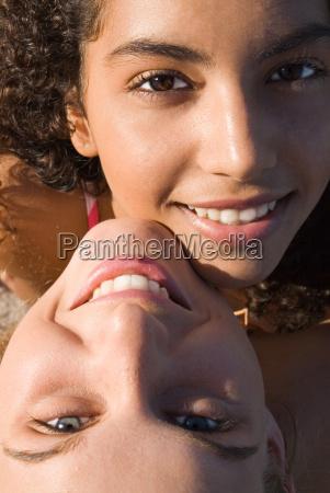 multi racial couple of teens