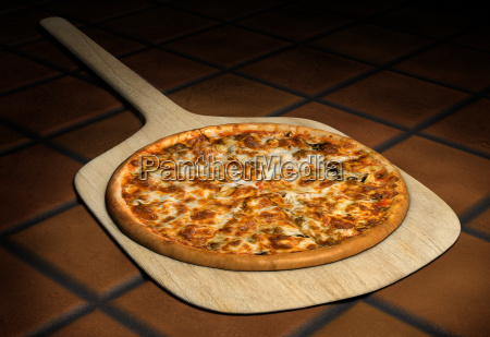 pizza, auf, einem, holz, peel - 4623758