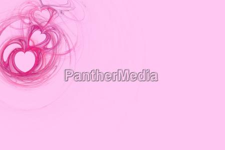 pink herz entwurf mit pastellrosa kopien