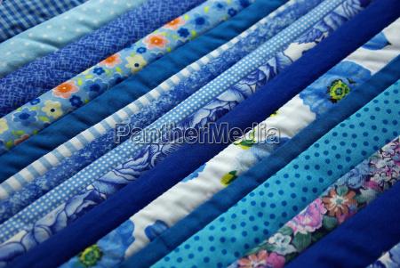 stoff stoffmuster patchwork muster blau gemustert