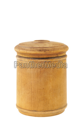 old antique round food box isolated
