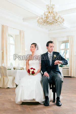 bride and groom waiting for the