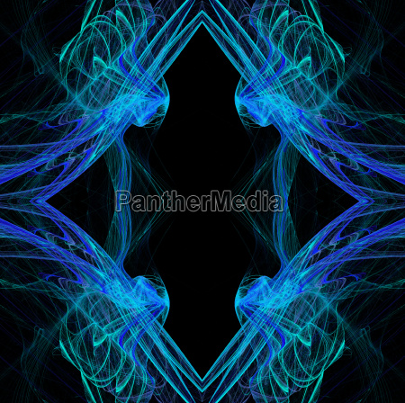 diamond shaped continuous fractal pattern