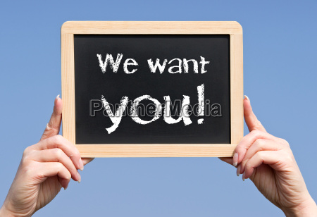 we want you business concept