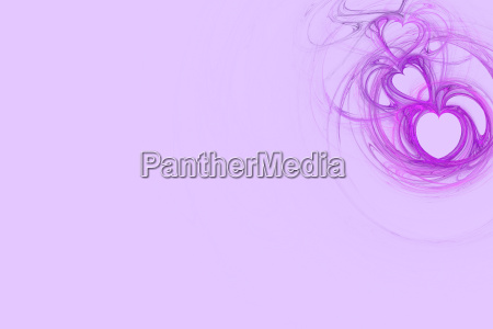 lavendel herz design mit pastell rosa