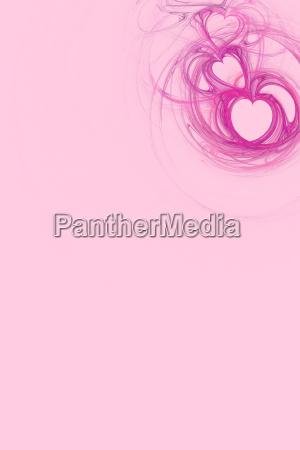 pink herz design mit pastellrosa textfreiraum
