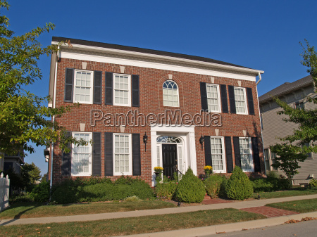 large two story new home built
