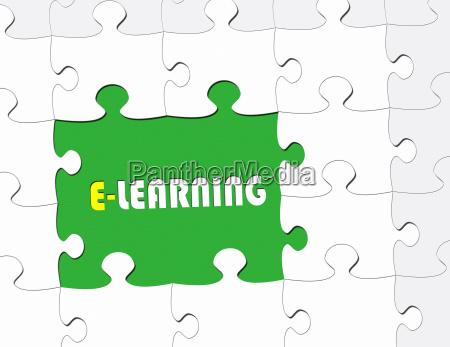 e learning modern business concept