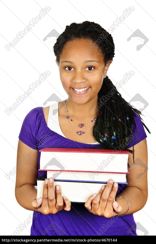 girl, holding, text, books - 4670144