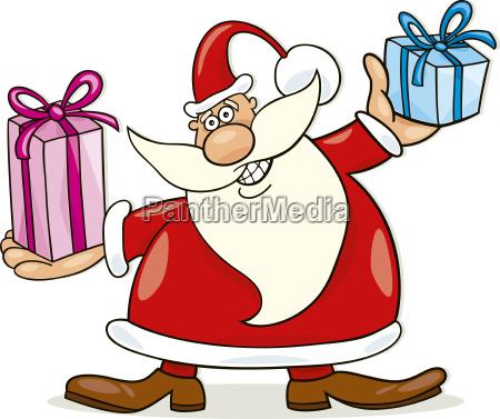 illustration geschenk weihnachtszeit christmas gabe mitbringsel
