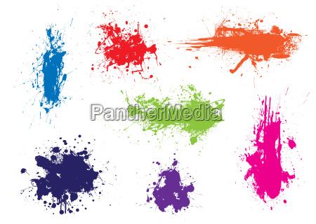 ink splat grunge colour