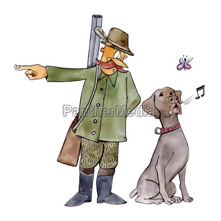 retriever dog on hunting