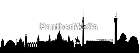 hannover skyline abstrakt