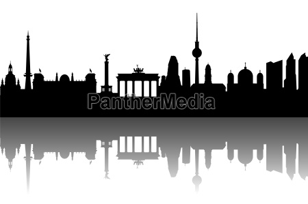 berlin skyline abstrakt