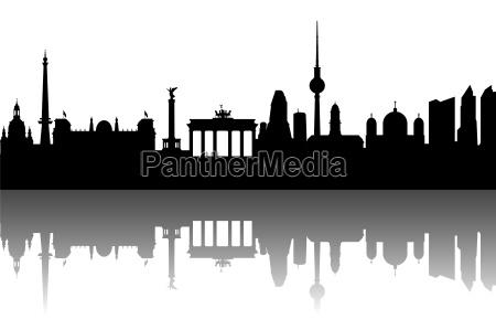 berlin, skyline, abstrakt - 4693976