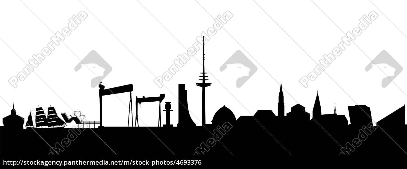 kiel skyline abstrakt lizenzfreies foto 4693376. Black Bedroom Furniture Sets. Home Design Ideas