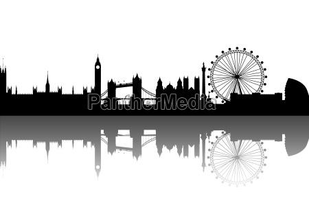 london silhouette abstrakt