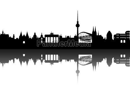 deutschlan skyline abstract