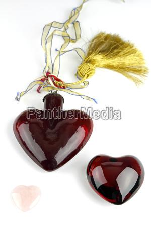 three shiny hearts