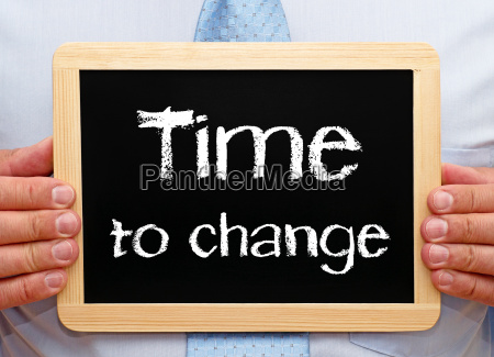 time to change business concept