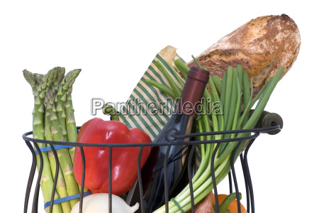 basket full of fresh products with